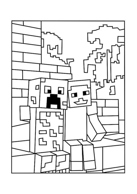 minecraft village coloring page printable minecraft coloring pages coloring home