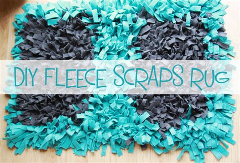 how to make a fleece rug gray fox diy fleece scraps rug