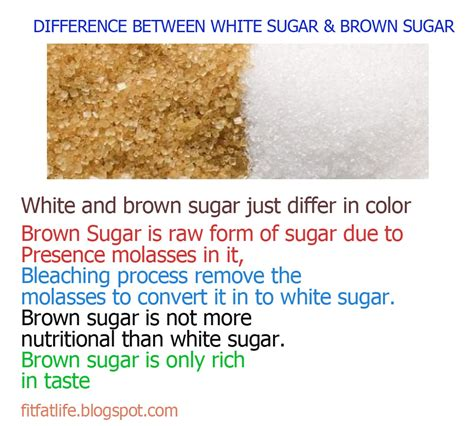 Difference Between Light Brown And Brown Sugar by Health Fitness Difference Between Brown And White Sugar