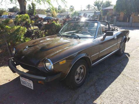1980 fiat spider convertible 1980 fiat spider convertible for sale in pasadena