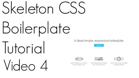 Tutorial Skeleton Css   skeleton css tutorial video 4 youtube