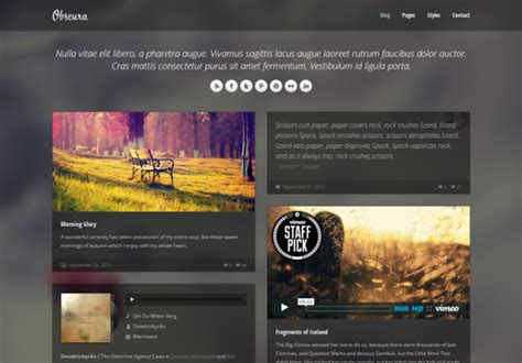 css3 templates free obscura responsive html5 theme html5xcss3