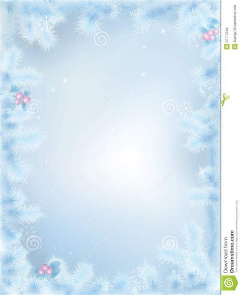 vector frozen christmas border royalty free stock image