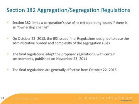nol section 382 kaiser corp tax update 2013
