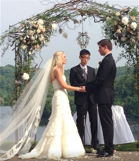 Chandelier Wedding Arch The Chandelier Arch With The Flowers And Twigs It I Think This Would Stand Out In The