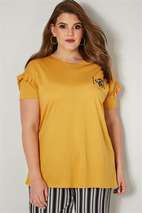 limited collection yellow bee mine embellished t shirt