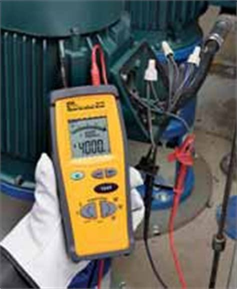 induction motor megger test held digital insulation tester ac dc voltage continuity check