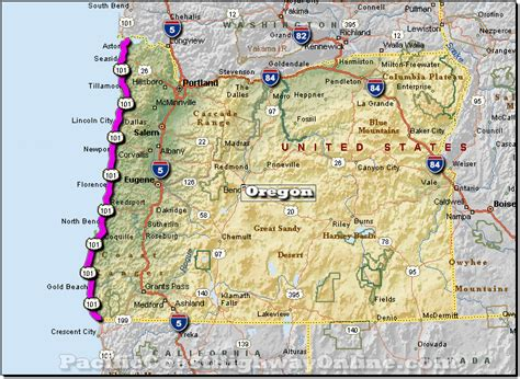 maps of hwy 101 - Pch Oregon