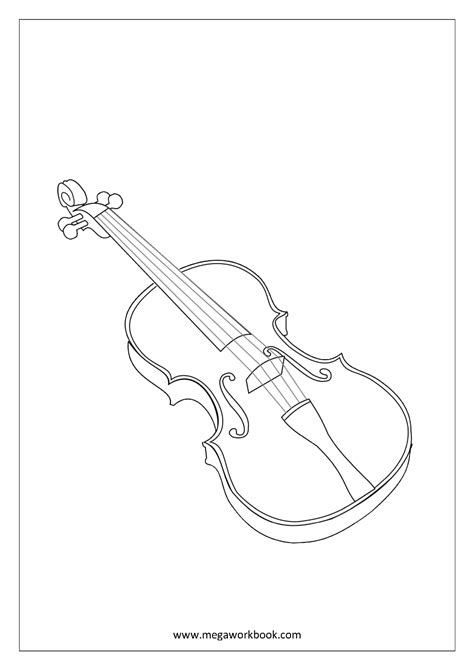 Free Coloring Sheets - Musical Instruments - MegaWorkbook
