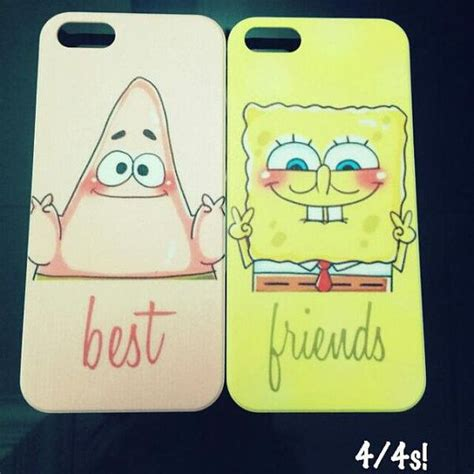 best friend phone cases and spongebob best friends available for iphone 4 4s 5 5s 5c s3 s4 note 3 on