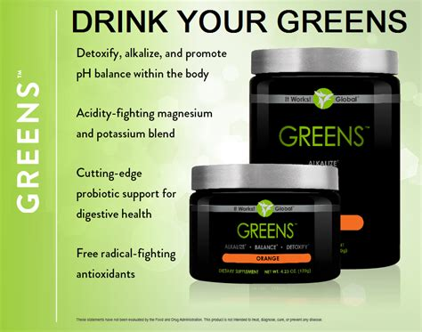 90 Greens Detox Challenge by It Works 90 Day Challenge Works Global Threat