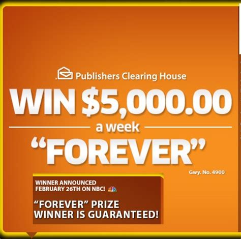 Nbc Pch Winner Announcement - pch 5 grand a week forever sweepstakes sweeps maniac