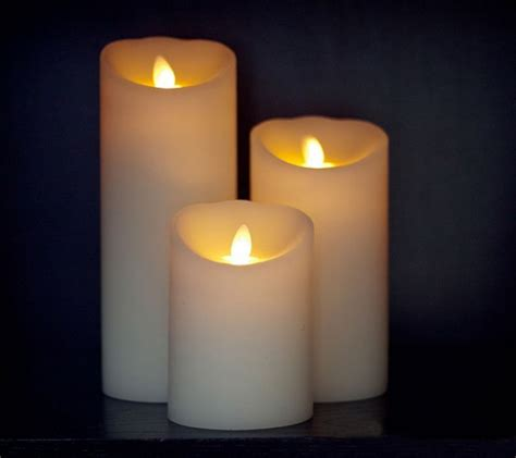 luminara candele luminara ivory led flameless vanilla scented pillar real