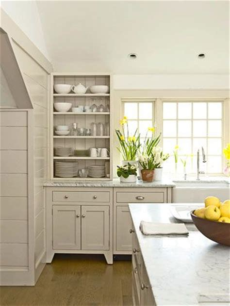 putty colored kitchen cabinets classic country rooms open shelves cabinets and shelves