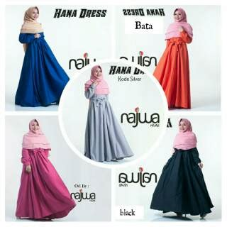 Pakaian Wanita Dress 559 Promo flash sale gamis polos balloteli hana dress ori najwa shopee indonesia