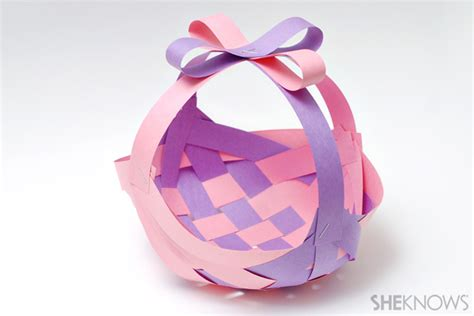 How To Make A Paper Easter Basket - adorable easter baskets you can diy in a snap