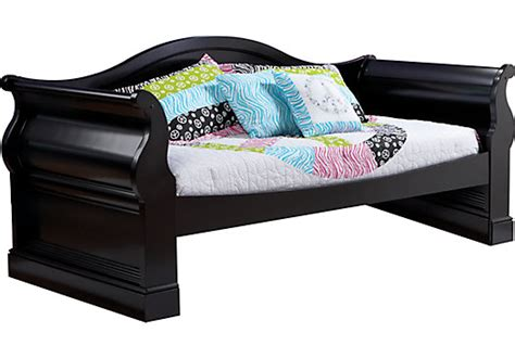 rooms to go daybed oberon black 3 pc daybed beds colors