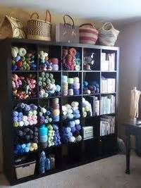 crochet pattern storage ideas craft room expedit yarn storage like the pattern tote