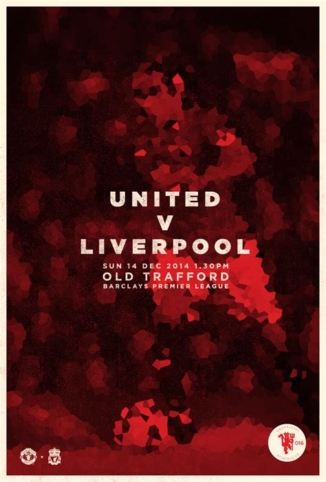 Manchester United Day u n i t e d match day posters on behance