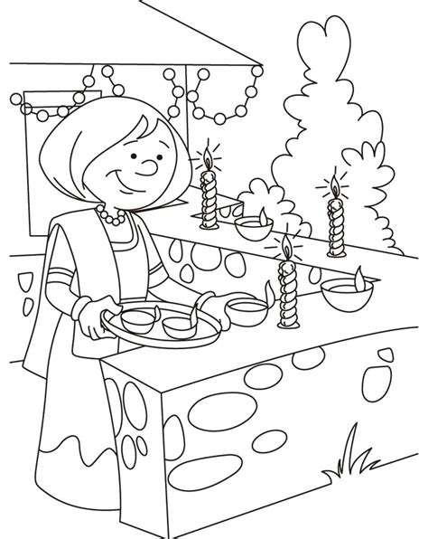 Diwali Paintings Scene Drawing Pictures Sketch For Kids Happy Diwali Wishes Messages Drawings For Coloring