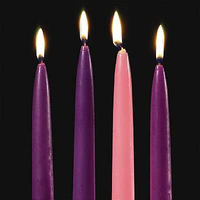 Moorlife Four Seasons Gratis 1pc advent candles tapers 10 quot x 3 4 quot set of 4 mpn 70374