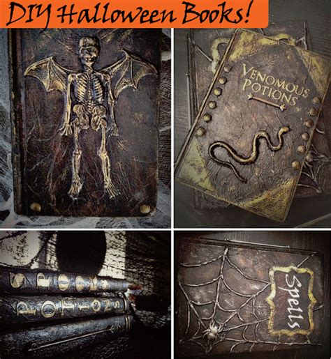 halloween book themes altered halloween books tutorial new and improved