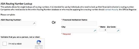 Bank Routing Number Lookup Need An Aba Bank Routing Number Now There S An Official Lookup Tool
