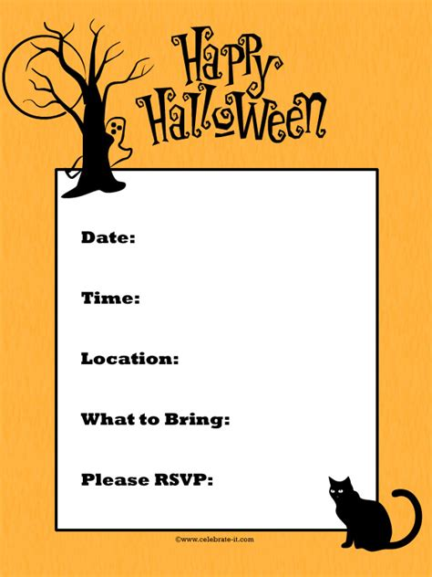 invitation ideas for halloween party gallery for gt halloween invitation ideas for kids