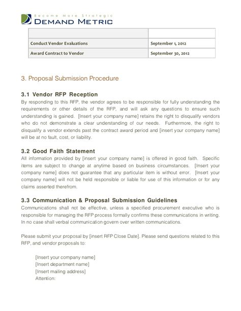 vendor rfp template website design rfp template