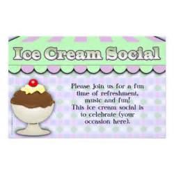 ice cream social purple green stripe sundae flyer design