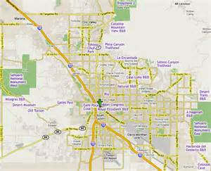 map of tuscon arizona within map of tucson arizona pictures to pin on