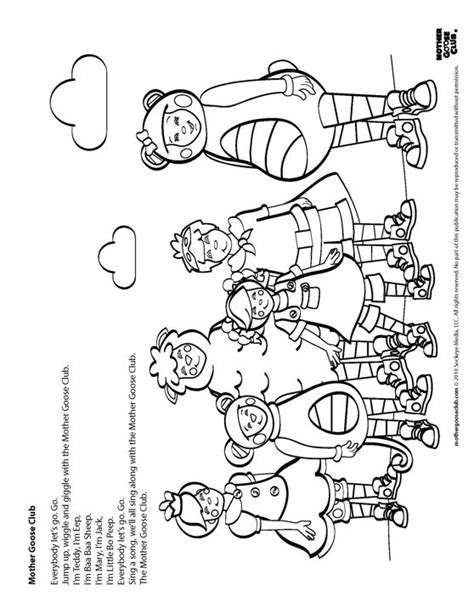 coloring pages mother goose club speakaboos worksheets