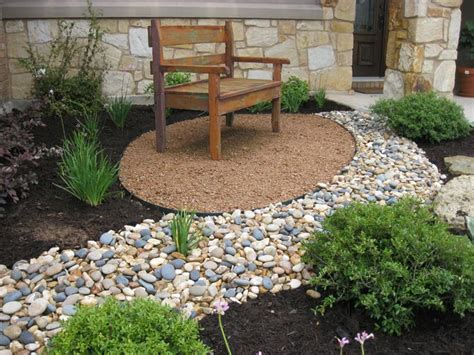 ideas  dry riverbed landscaping  pinterest