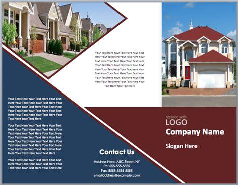 realtor brochure template real estate brochure template microsoft office templates
