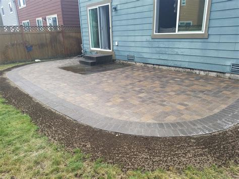 paver patio extension ajb landscaping fence