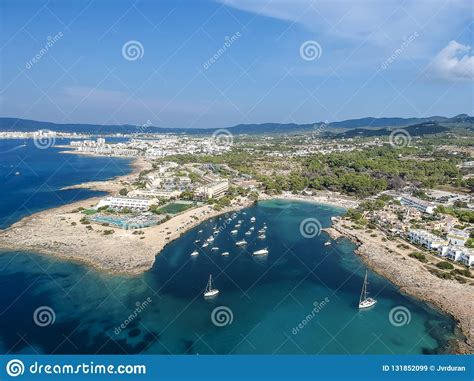 des torrent ibiza aerial view of des torrent ibiza spain stock image