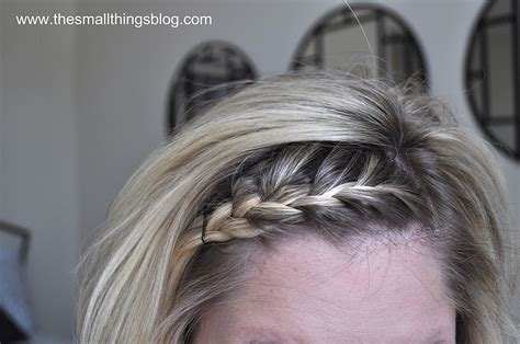 cute styles to pull short hair back french braid tutorial