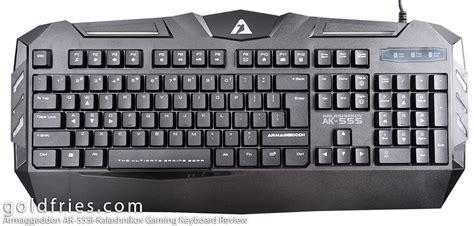 Keyboard Kalashnikov Ak555i armaggeddon ak 555i kalashnikov gaming keyboard review goldfries