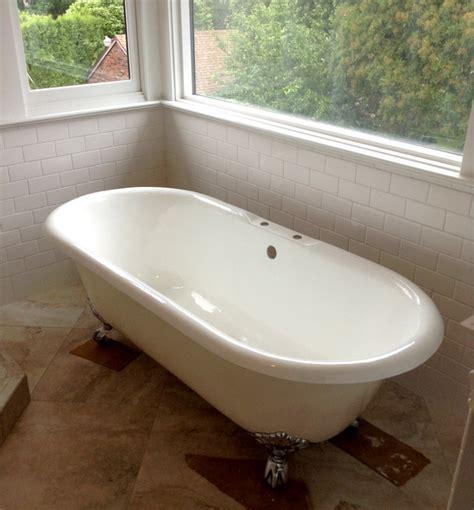 Corner Clawfoot Bathtub by Bathroom Reno Week 9 187 Light Designs