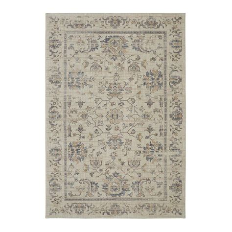 floor rugs home depot mohawk home beige 8 ft x 10 ft area rug 000149 the home depot