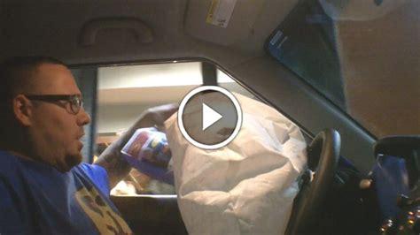 Airbag Prank by Drive Thru Airbag Explosion Prank Omargoshtv Pranksters
