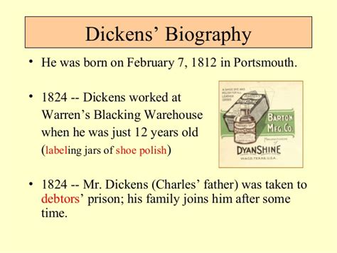 biography by charles dickens charles dickens bio and time ppt