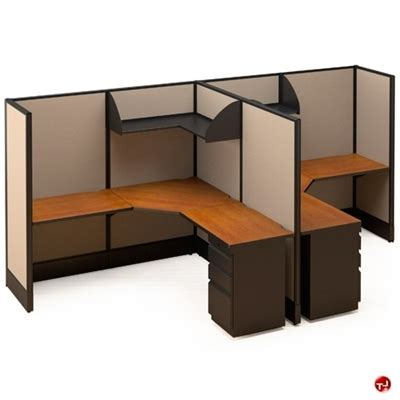 2 Person L Shaped Desk The Office Leader 2 Person L Shape Electrified Cubicle Desk Workstation