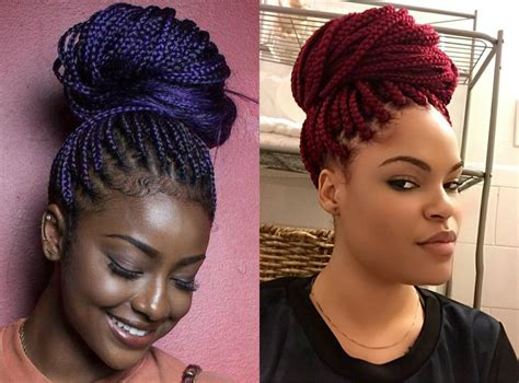 pictures of colored hair box braid buns box braids bun hairstyles you will swear with hairstyles