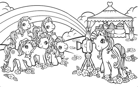 mewarnai gambar lucu kuda my pony mewarnai gambar