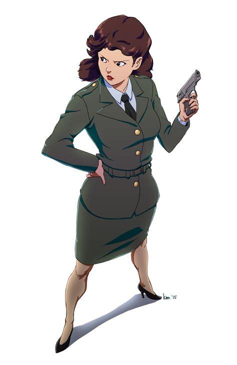 Agent Carter Fanart Peggy Carter 2 Pinterest   agent carter in army uniform fanart by kikimanrique