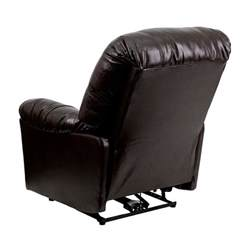flash furniture leather chaise powerful comfortable