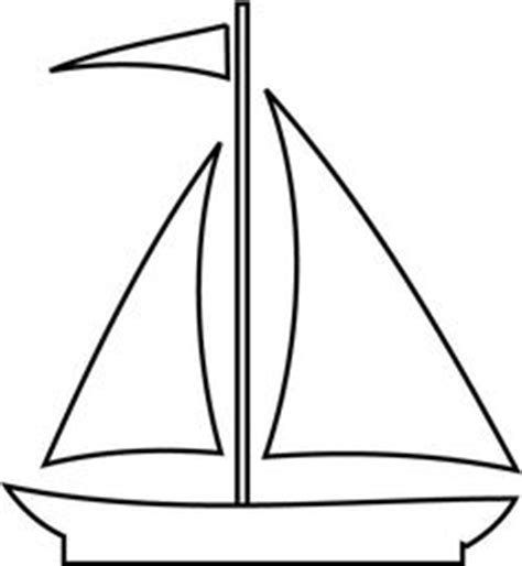 Sailboat Outline by Sailboat Pattern Use The Printable Outline For Crafts Creating Stencils Scrapbooking And