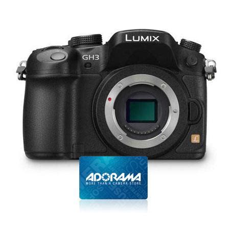 Adorama Gift Card - deals black friday on panasonic lumix dmc gh3 mirrorless digital camera body only
