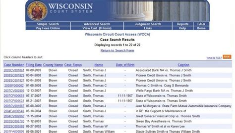 Wisconsin State Court Records Glueck Time To Civilize Records Opinion Host